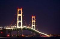 Mackinac Bridge at Night Fine-Art Print