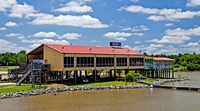 Local Restaurant in Columbus, Tombigbee Waterway, Mississippi Fine-Art Print