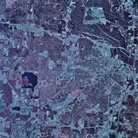 Satellite view of Jackson, Mississippi Fine-Art Print