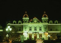 Monte Carlo Casino at Night, Monaco Fine-Art Print