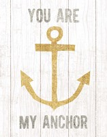 Beachscape III Anchor Quote Gold Neutral Fine-Art Print