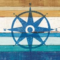 Beachscape IV Compass Fine-Art Print