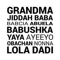 Grandma Various languages Fine-Art Print