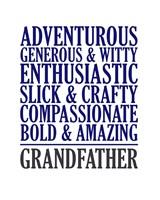 Adjectives for Grandpa Fine-Art Print