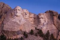 Mount Rushmore National Memorial at dawn, Keystone, South Dakota Fine-Art Print