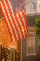 Massachusetts, Nantucket Island, US flag Fine-Art Print