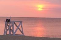 Massachusetts, Nantucket, Jetties Beach Lifeguard Fine-Art Print