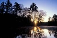 Nature Conservancy's Preserve, Lamprey River Below Packer's Falls, New Hampshire Fine-Art Print