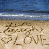 Live Laugh Love In The Sand Fine-Art Print