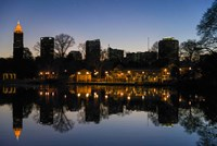 Midtown Skylines and Lake, Atlanta Fine-Art Print