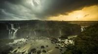 Devil's Throat Falls Under Stormy Skies, Brazil Fine-Art Print