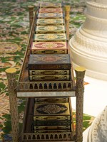 Korans at Sheikh Zayed Bin Sultan Al Nahyan Grand Mosque, Abu Dhabi Fine-Art Print