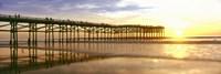 Pier at Sunset, Crystal Pier, Pacific Beach, San Diego, California Fine-Art Print