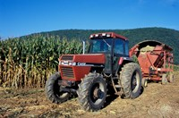 Tractor and Corn Field in Litchfield Hills, Connecticut Fine-Art Print