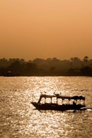 Egypt, Luxor Water taxi at sunset Nile River Fine-Art Print