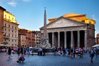 Sunlight on the Pantheon, Rome, Lazio, Italy Fine-Art Print
