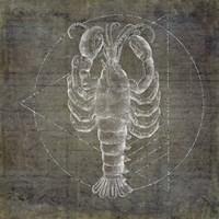Lobster Geometric Silver Fine-Art Print