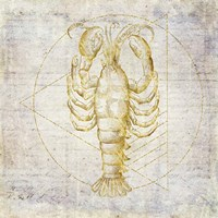 Lobster Geometric Gold Fine-Art Print
