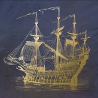Gold Ship Fine-Art Print