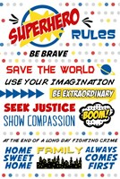 Superhero Rules Typography Fine-Art Print