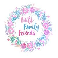 Faith, Family, Friends-Pastel Fine-Art Print