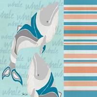Nautical Whales Fine-Art Print