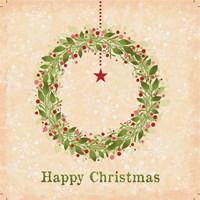 Happy Christmas - Wreath Fine-Art Print
