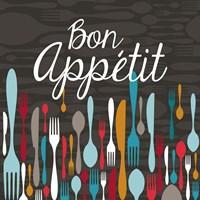 Bon Appetit Cutlery Grey Fine-Art Print