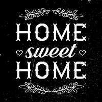 Home Sweet Home-Black Fine-Art Print