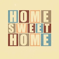 Home Sweet Home-Retro Fine-Art Print