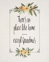 There's No Place Like Home Except Grandma's Yellow Flowers Fine-Art Print