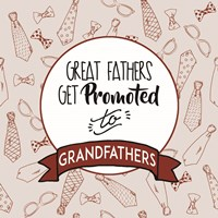 Great Fathers Get Promoted to Grandfathers Red Fine-Art Print