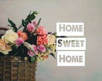 Home Sweet Home Flower Basket Color Fine-Art Print