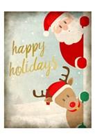 Santa and Rudolph Fine-Art Print