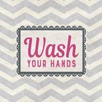 Wash Your Hands Gray Pattern Fine-Art Print