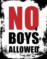 No Boys Allowed - White Grunge Fine-Art Print