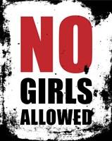 No Girls Allowed - White Grunge Fine-Art Print