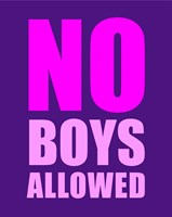 No Boys Allowed - Purple Fine-Art Print