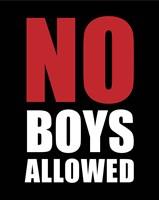 No Boys Allowed - Black Fine-Art Print