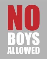 No Boys Allowed - Gray Fine-Art Print