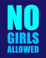 No Girls Allowed - Navy Fine-Art Print