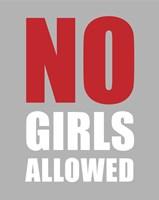 No Girls Allowed - Gray Fine-Art Print