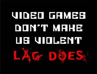 Video Games Don't Make us Violent - Black Fine-Art Print