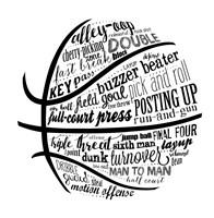 Basketball Terms BNW Fine-Art Print
