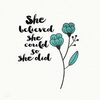 She Designed Fine-Art Print
