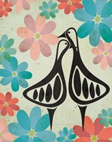 Geese and Floral Fine-Art Print