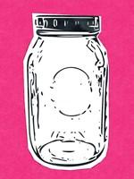Pop Art Mason Jar - Hot Pink Fine-Art Print