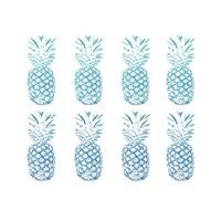 Beach Ombre Pineapples Simple Fine-Art Print