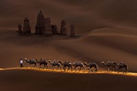 Castle And Camels Fine-Art Print