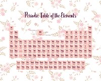 Periodic Table Of The Elements Pink Floral Fine-Art Print